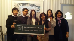 Lucy with burn researchers from South Korea in London